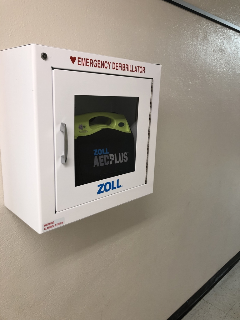 Elementary AED by Vicki's office
