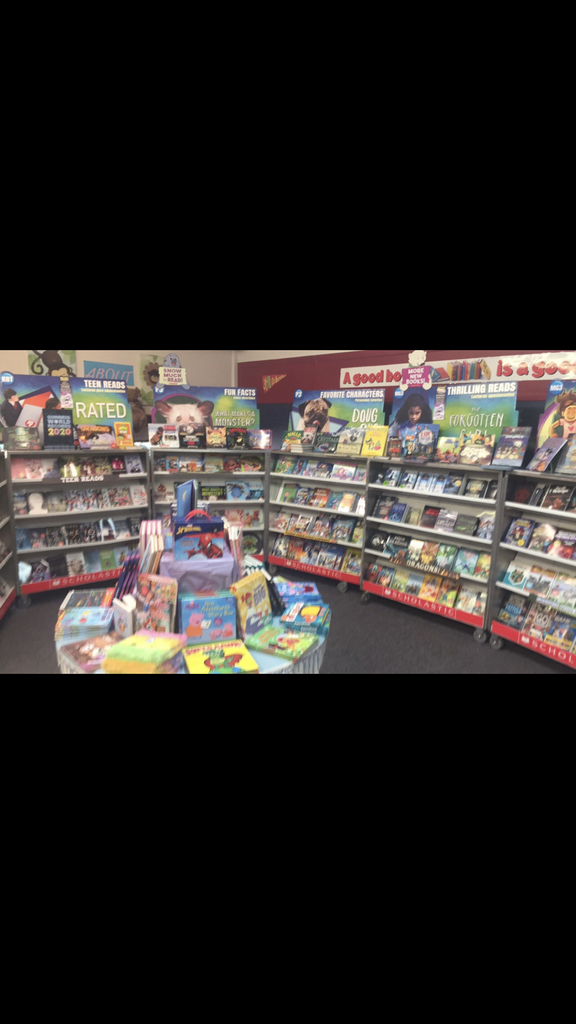 Elementary Book Fair is open until 5 pm today.